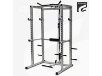 Power rack with low / high pulley - with free powertec bench