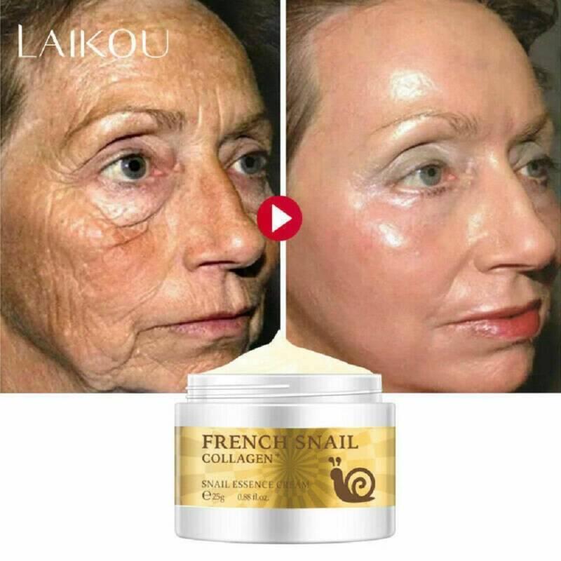 Snail Face Cream Hyaluronic Acid Moisturizing Anti-Wrinkle Anti-Aging Skin Care~