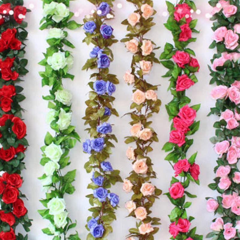 8.2FT Artifical Hanging Ivy Vine Plant Silk Leaf Garland Home Wedding Decor UK*