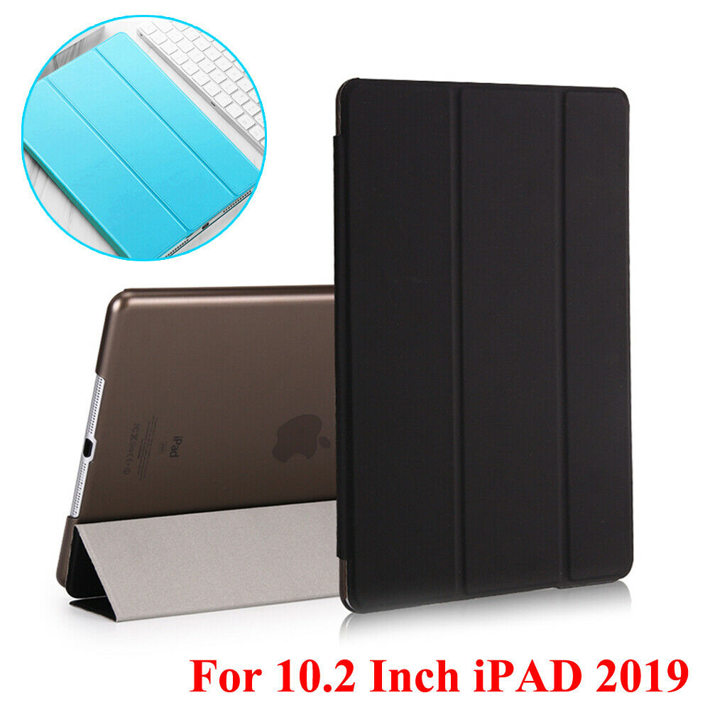 For iPad 2019 7th Generation 10.2″ Leather Smart Stand Cover / Screen Protector Cases, Covers, Keyboard Folios
