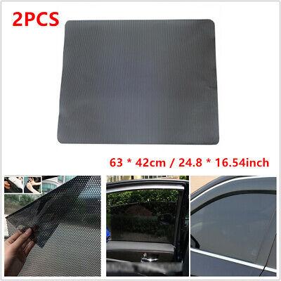2X Car Side Window Net Sun Shade Shied Solar Mesh Film Sticker UV Protector Tint