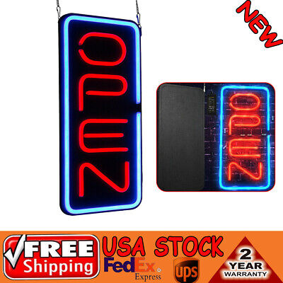 23.6x11.8 Vertical Rectangular Decorate Led Light Open Neon Business Sign