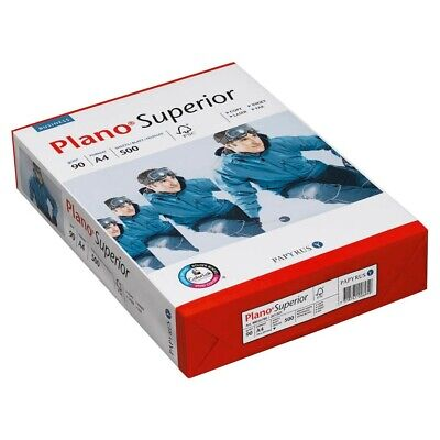 500 Blatt Plano Kopierpapier Superior A4 90 g/qm Kopier Papiere