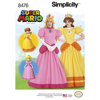 Schnittmuster Super Mario Princess Gr.32-40