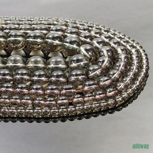 Smoky Quartz Gemstone Round Beads 15.5