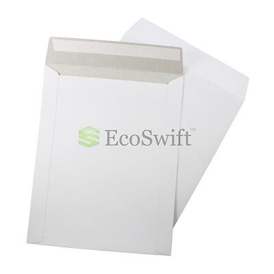 50 - 9 X 11.5 Self Seal White Photo Ship Flats Cardboard Envelope Mailer Mailers