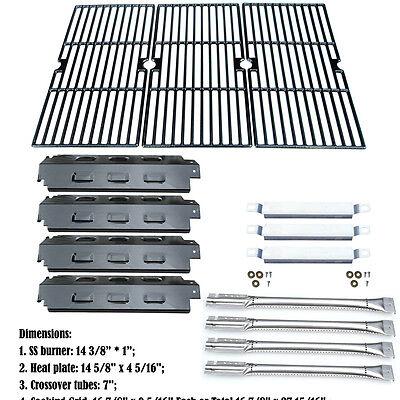 Replacement Repair Kit Burner,Heat Plate,CarryoverTube,Grill Grate for Charbroil