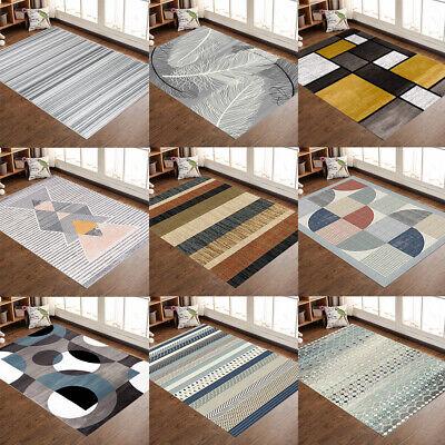 Contemporary Modern Soft Area Rugs Nonslip Velvet Home Room Carpet Floor Mat Rug Field Floor Mat