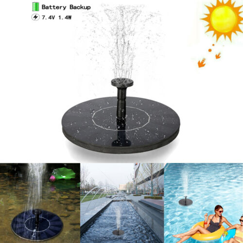 Solar Power Fountain Water Pump Floating Panel Garden Pool P