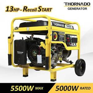 Thornado 5500W Rated Petrol Power Generator 16HP Key Start Chipping Norton Liverpool Area Preview