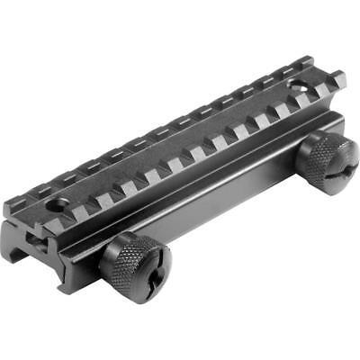 - Black Aluminum Standard Weaver/ Picatinny Rail AR Riser Mount Firearm Accessory