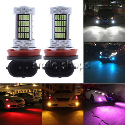 NEW 2Pcs 4014 92SMD LED Bulbs Conversion Kit Fog Lights 9005 9006 H7 H11