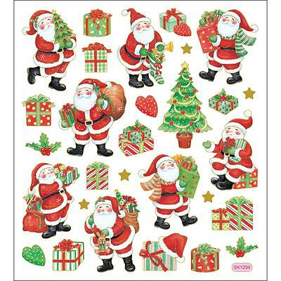 Scrapbooking Crafts Stickers Christmas Santa Claus Presents Trees Sacks Toys - Christmas Scrapbook