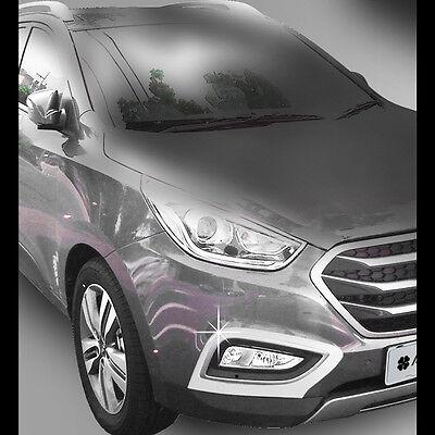 Fog lamp Molding Garnish Black matt For Hyundai Tucson IX35 2010~2013