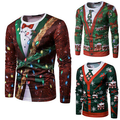 Funny Shirts For Women (Unisex Ugly Christmas Sweater Funny Ugly Women Men Xmas Pullover Sweatshirt)