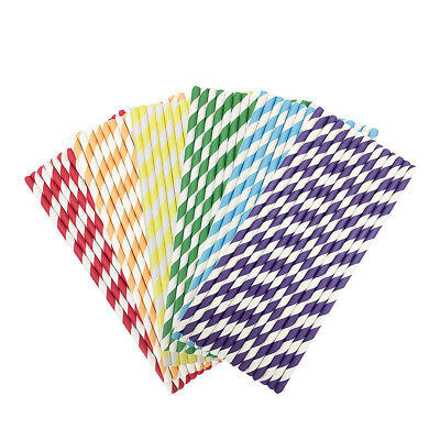 Chevron Party Supplies (200 x Retro Stripe Chevron Vintage Paper Drinking Straws Birthday Party Supplies)
