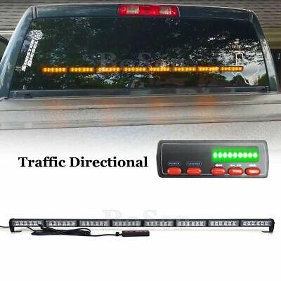 50 Led Traffic Adviser Emergency Warning Flash Response Strobe Light Bar Amber