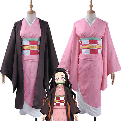 Demon Slayer Kimetsu no Yaiba Kamado Nezuko Full Suit Cosplay Costume with Gift - Demon Slayer Costume
