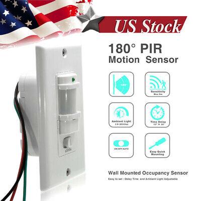 In-Wall Motion Sensor Light Switch, PIR Occupancy Sensor Single-Pole Use