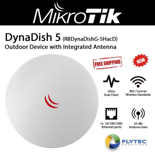 Mikrotik DynaDish 5 RBDynaDishG-5HacD Outdoor Dual Chain 5GHz with 25dBi Antenna