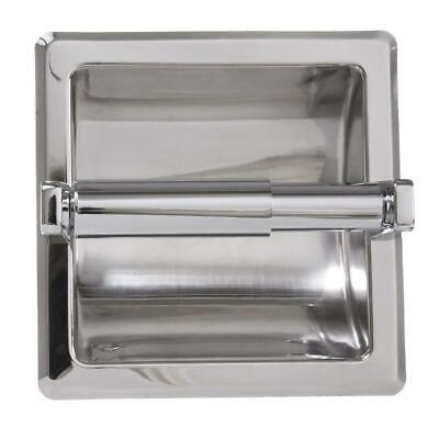 ARISTA Recessed Toilet Paper Holder with Mounting Plate in Chrome RTPH/P-CH