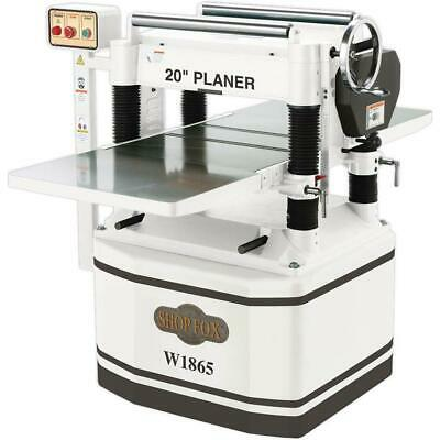 Shop Fox W1865 20-inch 5 Horsepower Planer With Helical Cutterhead