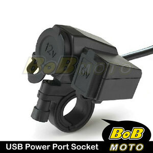 Unique-iPod-iPhone-S4-Note-2-1-LTE-S3-GPS-USB-Power-Charger-for-Motorcycle-WP