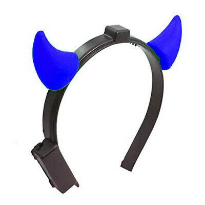 Light Up Devil Horns Blue - Light Up Devil Horns