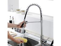 Brand New Polished Chrome Kitchen tap for sale with pull out sprayer