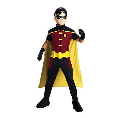 Kids Young Justice Robin Costume - Robin Kids Costume