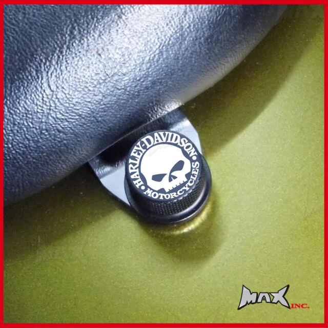 Willie skull logo emblem seat bolt Fits Harley Davidson Heritage Springer FLSTS