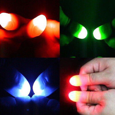 Kids Glow Toys Children Luminous LED Light Flashing Fingers Magic Trick Props