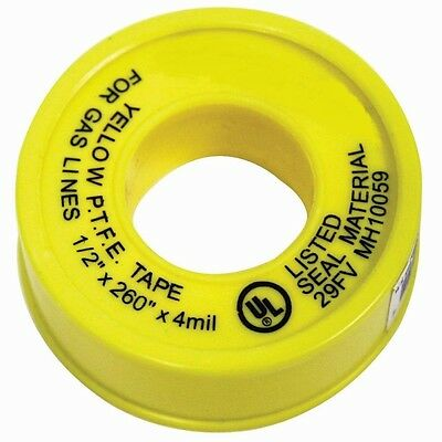 Yellow Propane Natural Gas Line Teflon Tread Seal Tape Ul Listed