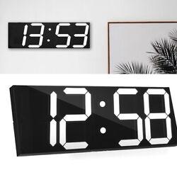 Hot Digital Large Big Digits LED Wall Desk Clock With Calendar alarm countdown