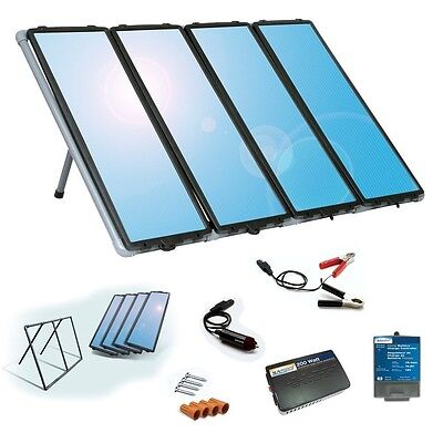 Sunforce Solar Charging Kit Panels Outdoor Energy Battery Power Home RV Camping