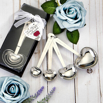15-70 Heart Design Measuring Spoons - Wedding Shower Party -