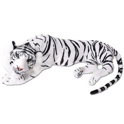 TE-Trend XXL Peluche Tigre Blanco Peluche Plüschtiger Decoración 90cm