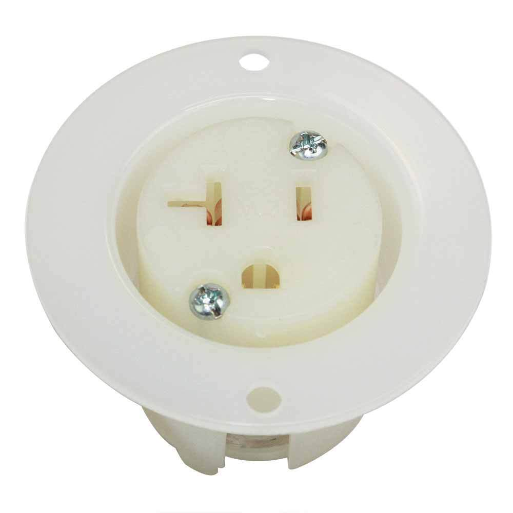 Electrical Receptacle 3 Wire 20 Amps 250v Nema 6 20r Yga022f Ebay 5 2 Pole 20a 125v Heavy Duty Standard Flange Outlet