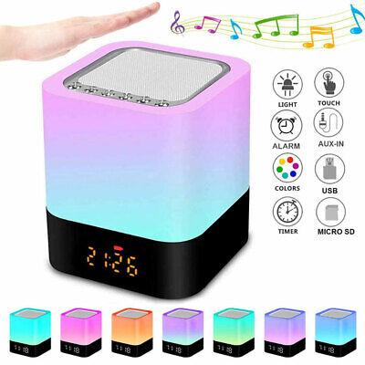 Lámpara LED Inteligente Cambio colores Despertador Altavoz Subwoofer Bluetooth