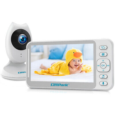 Campark Video Baby Monitor 4.3 inch Split Screen Two Way Talk Audio Night Vision