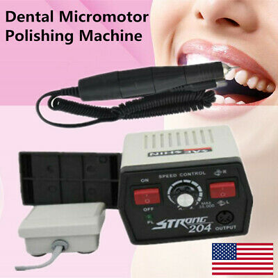 Dental Micromotor Strong 204 102l Handpiece 35000rpm 2.35mm Bur For Marathon New