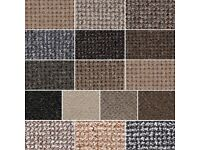 large selection of roll end carpets