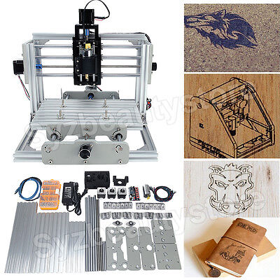3 Axis Mini Diy Cnc 2417 Usb Desktop Engraver Machine Kit Mill Router Engraving