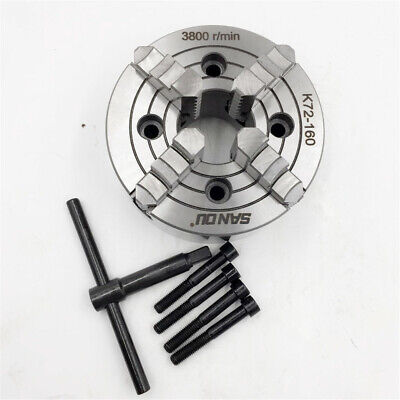 6 Metal Lathe Chuck 160mm 4jaw Independent Reversible Cnc Metal Lathe Milling