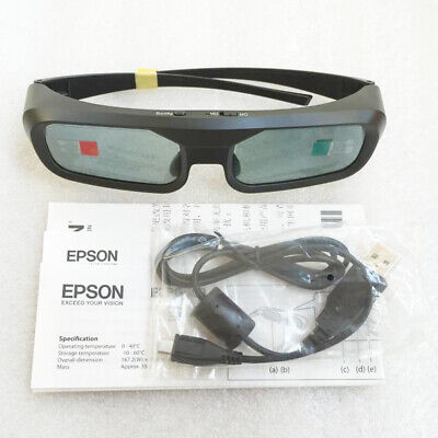 1pc EPSON 3D Stunning Viewing Glasses ELPGS03 For TW5200/TW9200/TW6200/TW8200