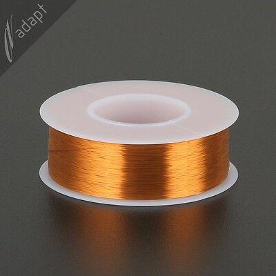 Magnet Wire, Enameled Copper, Natural, 42 AWG (gauge), 130C, ~1/4 lb, 12250 ft H