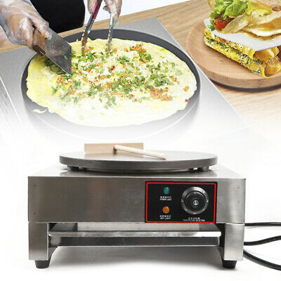 2.8kw Commercial Electric Crepe Maker Pancake Machine Single Hotplate Non Stick