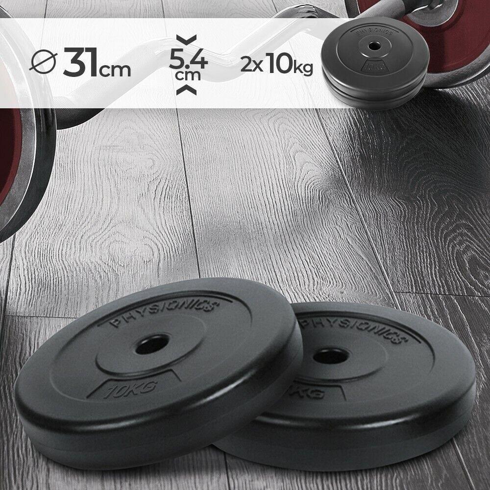 Hantelscheiben 2 x 10 kg Set Bohrung 27 mm Gewichtsscheiben Gewichte