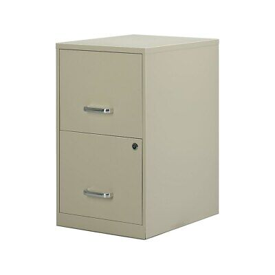 Staples 2-drawer Vertical File Cabinet Locking Letter Puttybeige 18d 2806662
