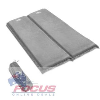 10cm Thick Self Inflating Mattress Double 10cm Grey